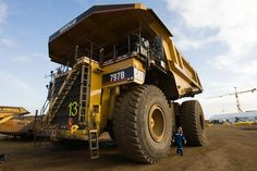 sick beast created by man! Giant dump truck at a Canadian oil sand site