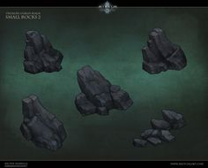 Rock assets I created for Diablo 3 Reaper of Souls Treasure Goblin Realm. This was fun to work on because i was able to use various methods of creation from very low poly rocks to full on rock pillars which got a lot of use by just rotating. Texture Painting, Stone Painting, Rock Games, Drawing Scenery, 2d Game Art, Hand Painted Textures, Pixel Design, 3d Texture, Environment Concept