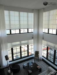 modern two story window treatments - Google Search