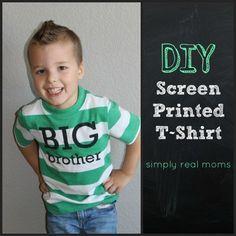 DIY Screen Printed T shirt! Big Brother T-Shirt made at home!