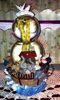 Musical Snow Globe Noah's Ark by NorasVintageAttic on Etsy, $14.99
