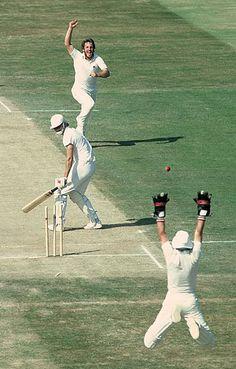 Botham celebrates a wicket