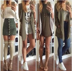 Image in my fashion inspo collection by soukaina Teen Fashion Outfits, Look Fashion, Outfits For Teens, Autumn Fashion, Girl Fashion, Fashion Dresses, Classy Fashion, Fashion Shoes, Fashion Design