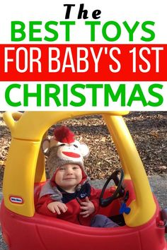 Baby Christmas Gift Ideas: A list of the best toys for a child around 1 year old! These will work for a baby boy or girl! #christmas #baby #toddler
