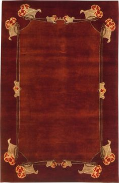 """The """"Corlea"""" Arts & Crafts Movement design by Archibald Knox clearly shows Art Nouveau and Celtic influences.   Like all Guildcraft carpets, the Corlea is hand-knotted by adult artisans in Goodweave-certified workshops. Visit guildcraftcarpets.com for more information."""