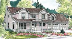 Almost every amenity! Plan #124-627 - Houseplans.com 1988 sq ft