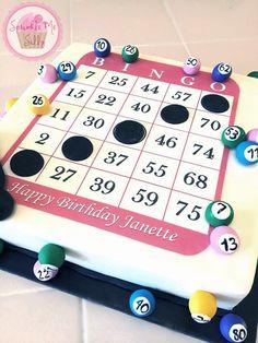 Cakes & Cupcakes Cakes & Cupcakes take good care of my baby - Baby Care Bingo Cake, Bingo Party, 75th Birthday Parties, 90th Birthday, Birthday Cakes, Birthday Ideas, Retirement Decorations, Cake Templates, Cupcake Cakes