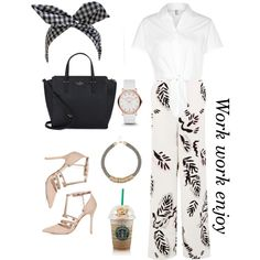 Style to work #style#stylestreet#ilovethisoutfit by pinkaime on Polyvore featuring polyvore, fashion, style, American Apparel, Warehouse, Topshop, Kate Spade, MARC BY MARC JACOBS and River Island