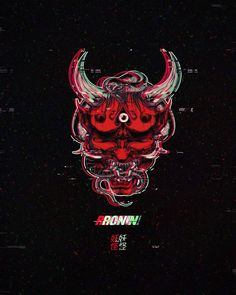Lions tigers, demons oh my! Respectfully For our Ronin. new merch coming soon. Japanese Tattoo Art, Japanese Art, Japanese Demon Mask, Samurai Wallpaper, Vaporwave Wallpaper, Satanic Art, Vaporwave Art, Aesthetic Japan, Social Art