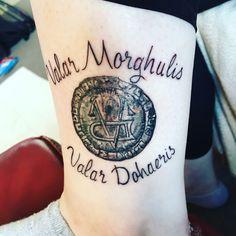 Game of Thrones Tattoo. My new tattoo Valar Morghulis, Valar Dohaeris Game Of Thrones Tattoo, Tatuagem Game Of Thrones, Game Thrones, Future Tattoos, New Tattoos, Small Tattoos, Cool Tattoos, Dragon Tattoo Designs, Tribal Tattoo Designs
