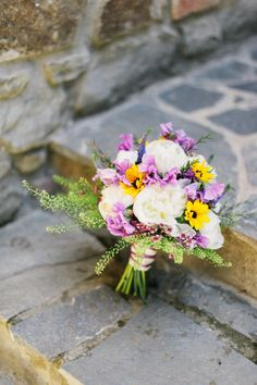 White, purple and yellow: http://www.stylemepretty.com/destination-weddings/2015/04/03/rustic-chic-dream-wedding-in-tuscany/ | Photography: Lisa Poggi - http://www.lisapoggi.com/