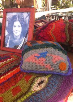 Beautiful Colorful #Crochet #Art from Inspirational 1970s Crochet Artist Susan Morrow