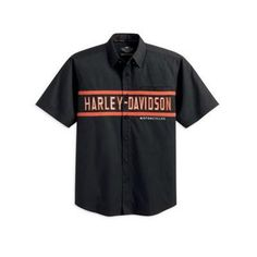 harley-davidson-men-s-s-s-woven-garage-shirt-99076-12vm Harley Apparel, Harley Gear, Biker Wear, Riding Jacket, Mens Fashion, Fashion Outfits, Harley Davidson Motorcycles, Garage, My Style