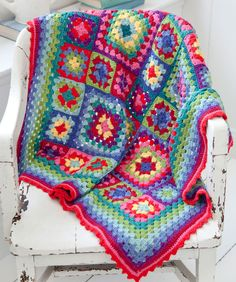 """Blanket Statement"" throw. I want to make a blanket like this with multi-sized squares."