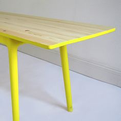 Dip-Dyed Neon Yellow Table
