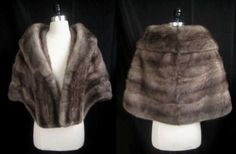 stunning gray mink stole, only at moxiefurs