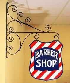 Barber Shop Shield Sign Barber Pole Koken