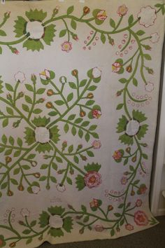 BEAUTIFUL WHIG ROSE N TULIP VINE ANTIQUE APPLIQUE QUILT WEAR, eBay, hearts-n-stitches