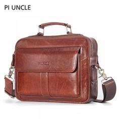 Qaulity Male Briefcase Genuine Leather Messenger Bag For Men Business Bag Vintage Designer Handbag Laptop Briefcase Bolso Hombre Leather Laptop Bag, Laptop Briefcase, Cheap Crossbody Bags, Utila, Messenger Bag Men, Casual Bags, Leather Men, Leather Bags, Bag Sale