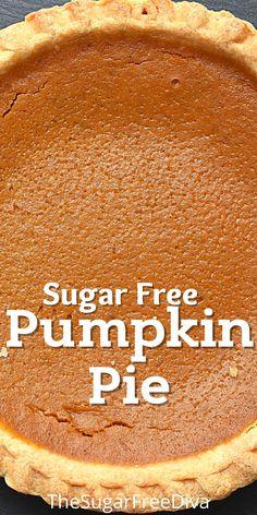Sugar Free Angel Food Cake Recipe, Sugar Free Pumpkin Pie, Sugar Free Recipes, Sugar Free Deserts, Sugar Free Sweets, Diabetic Friendly Desserts, Diet Desserts, Sugar Free Baking, Sugar Free Diet