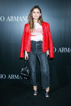 miroslava-duma-style at Armani event May 2016