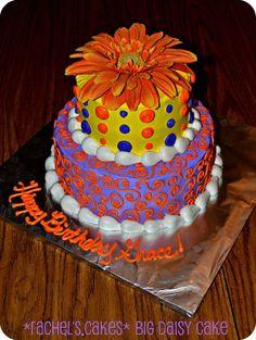 Giant Orange Daisy Cake