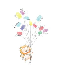 Baby-Dusche-Fingerabdruck Luftballons  von BrilliantCritter auf Etsy