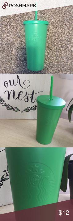 SALE💕 Starbucks Green Tin 16oz Tumbler Cold Cup NWT best offer :) Starbucks Accessories
