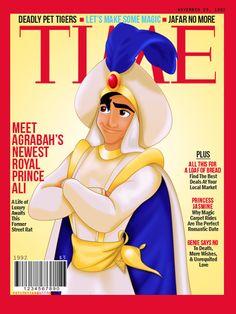 Prince Ali on the cover of Time disney Disney Girls, Disney Love, Disney Magic, Disney Pixar, Walt Disney, Disney Characters, Disney Princesses, Disney Stuff, Disney Parody