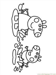 Peppa George in muddy puddle coloring page Peppa Pig Coloring Pages, Dinosaur Coloring Pages, Quote Coloring Pages, Colouring Pages, Coloring Books, Kids Colouring, Free Coloring, Coloring Pages For Kids, Peppa Pig Drawing