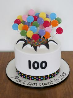 Exploding Balloon Cake by Bee's Cake Design Bee Cakes, Fondant Cakes, Cupcake Cakes, Cupcakes, Exploding Cake, Cake Design Inspiration, Homemade Birthday Cakes, Cake Birthday, School Cake