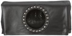 Whiting and Davis Mesh and Lambskin Clutch,Black,one size -- You can find out more details at the link of the image.