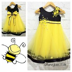 Pauline dress -Bee theme #honeybeekids #honeybee_kids #handmadeclothing…
