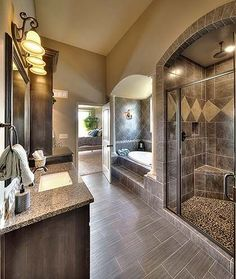 Glenwood floor plan - beautiful bathrooms - tile - shower door - walk-in shower . Glenwood floor plan - beautiful bathrooms - tile - shower door - walk-in shower - oval tub - master bath by Eva Dream Bathrooms, Beautiful Bathrooms, Master Bathrooms, Master Baths, Master Tub, Master Plan, Master Bedroom, Diy Bathroom Remodel, Bathroom Ideas