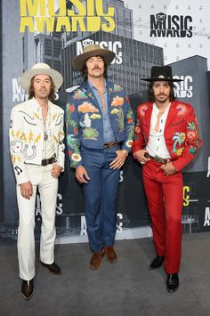 Jess Carson, Mark Wystrach, and Cameron Duddy of Midland attend the 2017 CMT Music Awards at the Music City Center on June 7, 2017 in Nashville, Tennessee. (Photo by Michael Loccisano/Getty Images For CMT)