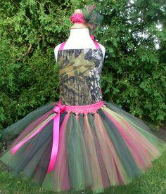 Mossy Oak Pink Party Tutu Dress by 4EverTuTu on Etsy, $31.99