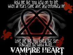 HIM~Vampire heart lyrics