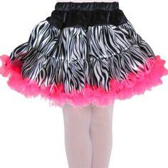 Girls Zebra Tulle Skirt