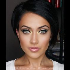 Cool makeup and Hairstyle...