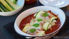 Fresh zucchini manicotti is a gluten-free Italian dinner
