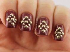 Spektor's Nails: Golden Studs feat. Essie - Angora Cardi + Born Pretty Store Giveaway