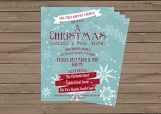 Christmas Concert Flyer / Poster / by StaciasDesignStudio on Etsy