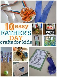 easy-Fathers-day-crafts-for-kids from No Time for Flash Cards