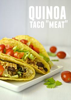 A hearty vegan taco filling made with quinoa and spices.