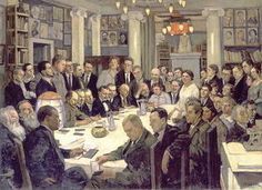 Konstantin Yuon - Tagung des Assoziations Nikitinsky Subbotniks