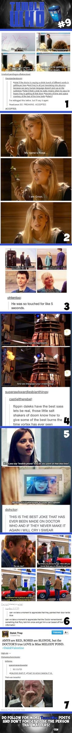 Okay But The First One YES Because Remember When Clara Was In Dalek Missy Put Her And She Said A Whole Sentence It Only Translated Into