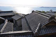 男木島、瓦屋根  Ogijima Tiled roof