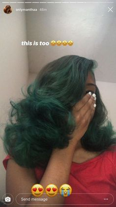 Image about hair in lime light by Deairra on We Heart It - Miyoshi Style World Dyed Natural Hair, Dyed Hair, Natural Hair Weaves, Curly Hair Styles, Natural Hair Styles, Ponytail Styles, Birthday Hair, Baddie Hairstyles, Korean Hairstyles