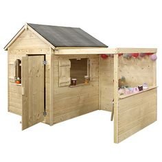 Maisonnette enfant Alpaga avec Pergola Cubby Houses, Play Houses, Wendy House, Kids Outdoor Play, Mud Kitchen, Backyard Playground, Cubbies, Kids Playing, Shed