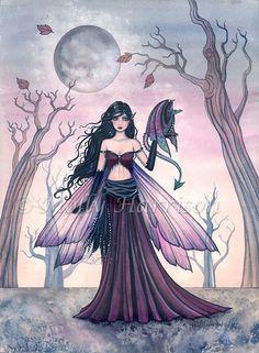 Fairy Dragon Art Fairy Print Dragon Print por MollyHarrisonArt